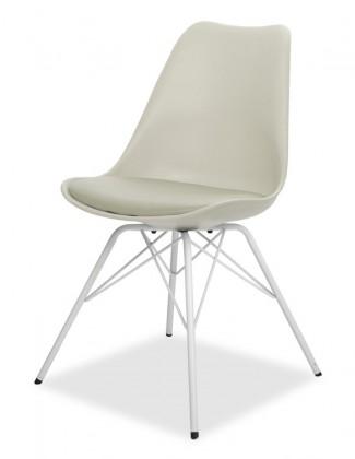 Jídelní židle GINA 9301-883+PORGY 9316-801 (béžová,bílá)