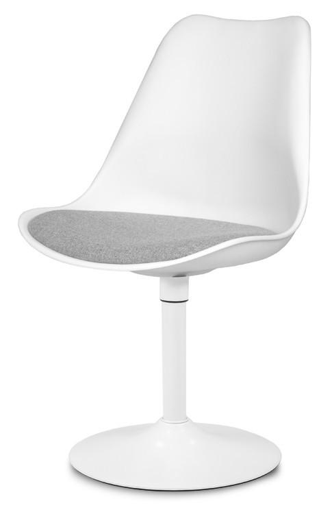 Jídelní židle GINA 9361-413+TRUMPET 9341-801 (bílá,šedá,bílá)