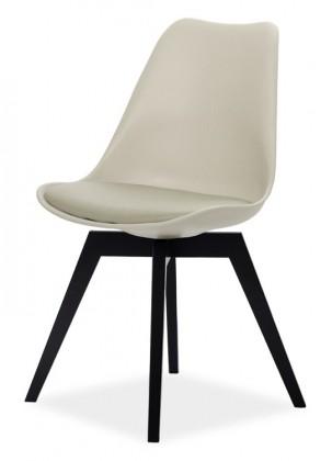 Jídelní židle GINA 9361-883+BESS 9347-024 (béžová,černá)