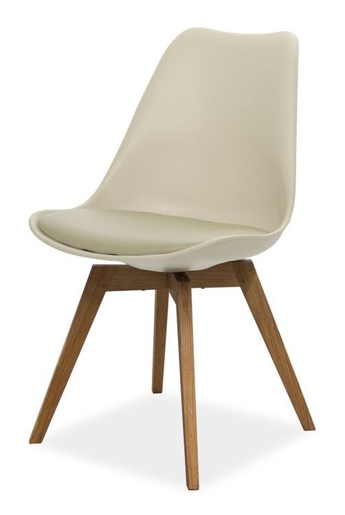 Jídelní židle GINA 9361-883+BESS 9347-054 (béžová,dub)