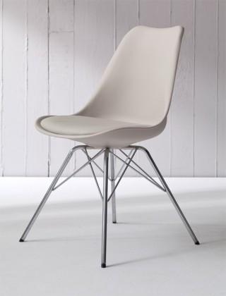 Jídelní židle GINA 9361-883+PORGY 9346-091 (béžová,chrom)