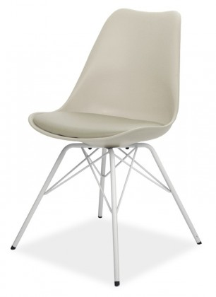 Jídelní židle GINA 9361-883+PORGY 9346-801 (béžová,bílá)