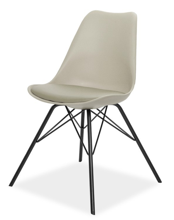 Jídelní židle GINA 9361-883+PORGY 9346-824 (béžová,černá)