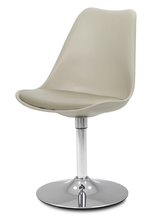 Jídelní židle GINA 9361-883+TRUMPET 9341-091 (béžová,chrom)