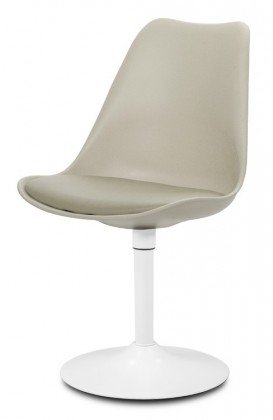 Jídelní židle GINA 9361-883+TRUMPET 9341-801 (béžová,bílá)