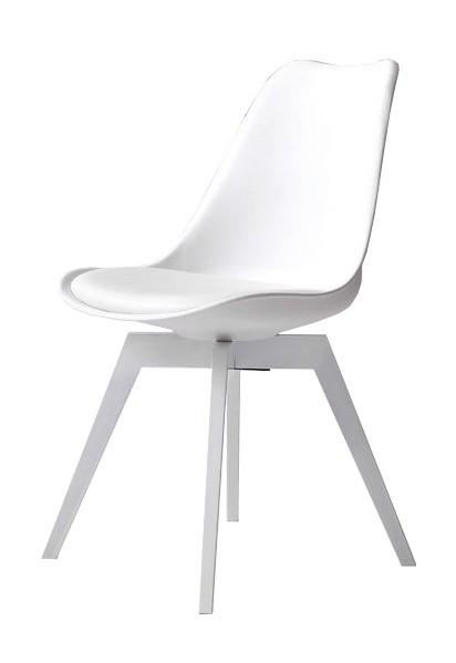 Jídelní židle Gina Bess (sedák bílá / konstrukce bílá)