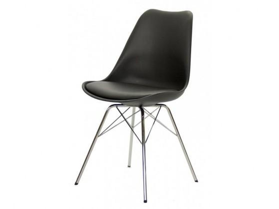 Jídelní židle Gina Porgy (sedák černá / konstrukce chrom)