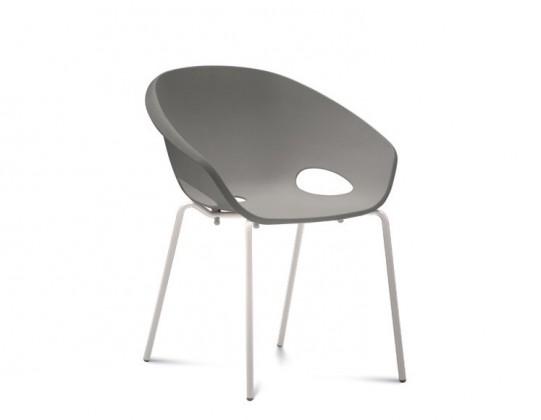 Jídelní židle Globe - Jídelní židle (lak bílý, písková)