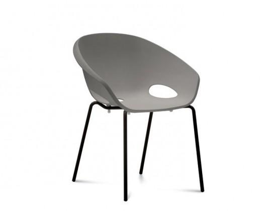 Jídelní židle Globe - Jídelní židle (lak černý, písková)