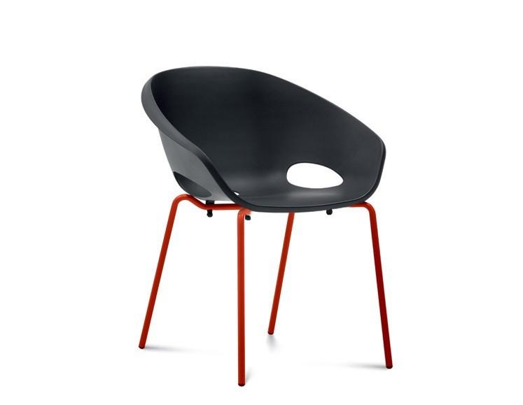 Jídelní židle Globe - Jídelní židle (lak červený, černá)