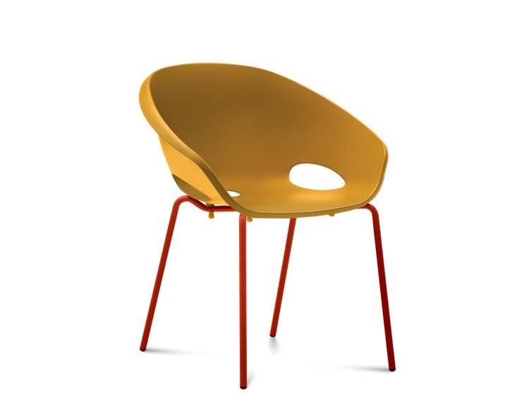Jídelní židle Globe - Jídelní židle (lak červený, hořčicová)
