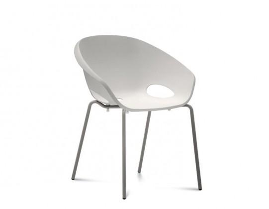 Jídelní židle Globe - Jídelní židle (lak pískový, bílá)