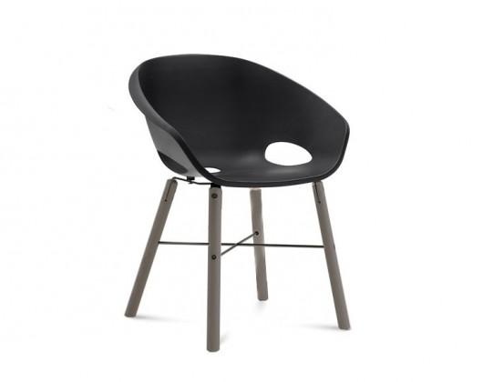 Jídelní židle Globe-L - Jídelní židle (antracit lak, antracit lak, černá)