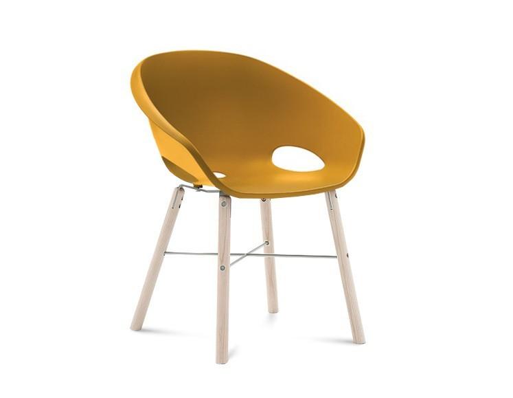 Jídelní židle Globe-L - Jídelní židle (bílý jasan, hliník, hořčicová)