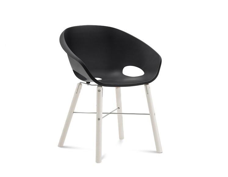 Jídelní židle Globe-L - Jídelní židle (bílý lak, hliník, černá)