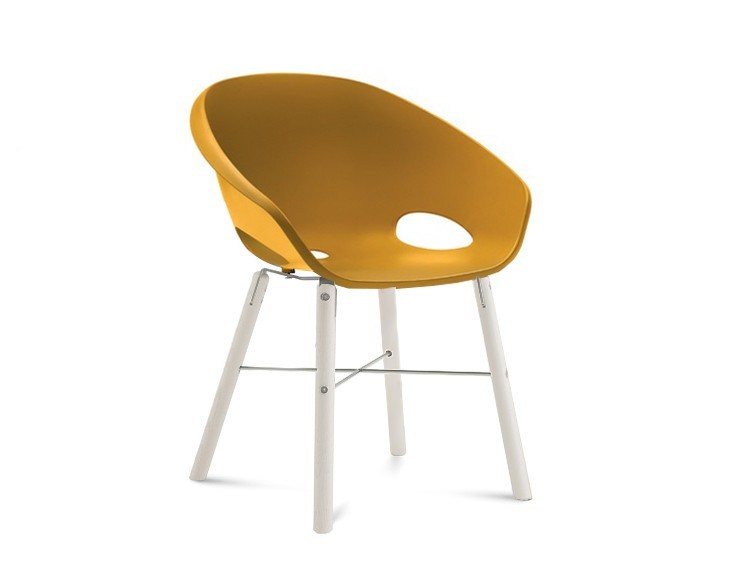 Jídelní židle Globe-L - Jídelní židle (bílý lak, hliník, hořčicová)