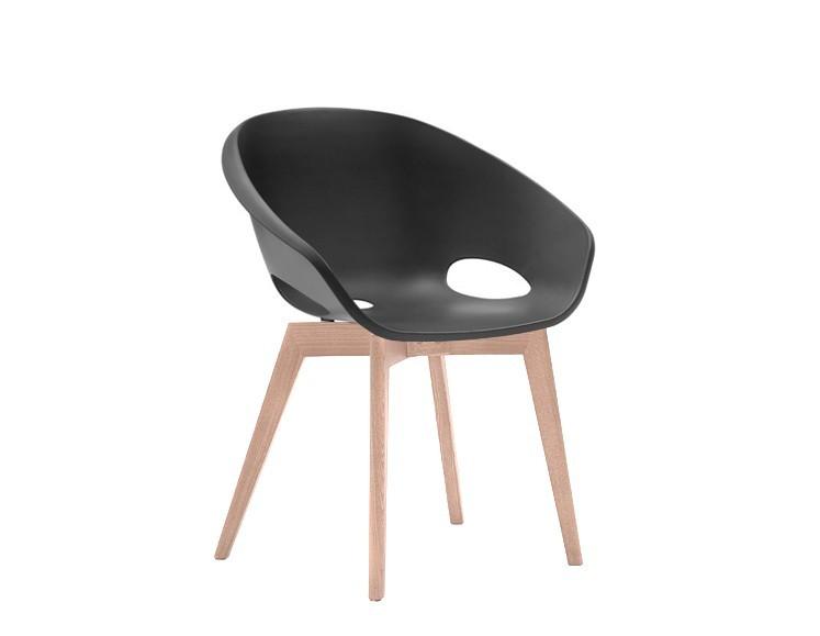 Jídelní židle Globe-LG - Jídelní židle (bělený dub, černá)