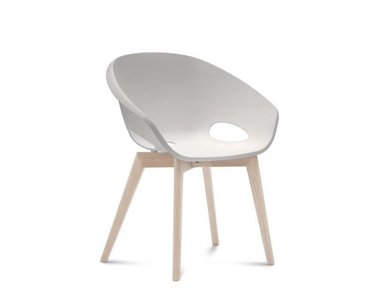 Jídelní židle Globe-LG - Jídelní židle (bílý jasan, bílá)