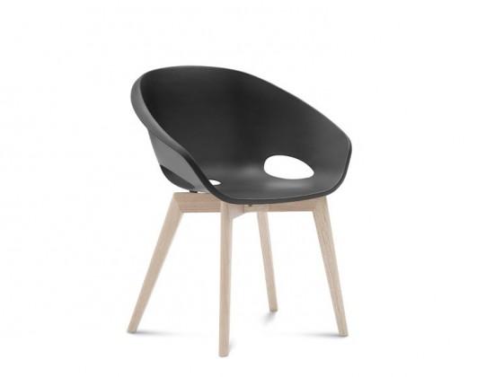 Jídelní židle Globe-LG - Jídelní židle (bílý jasan, černá)