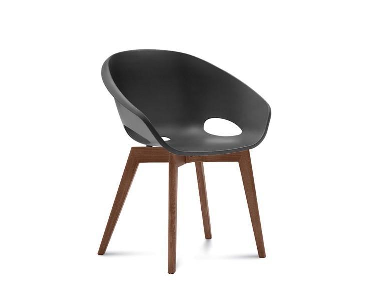 Jídelní židle Globe-LG - Jídelní židle (ořech, černá)