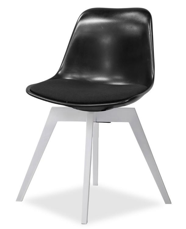 Jídelní židle GRACE 9360-124+BESS 9347-001 (černá,bílá)