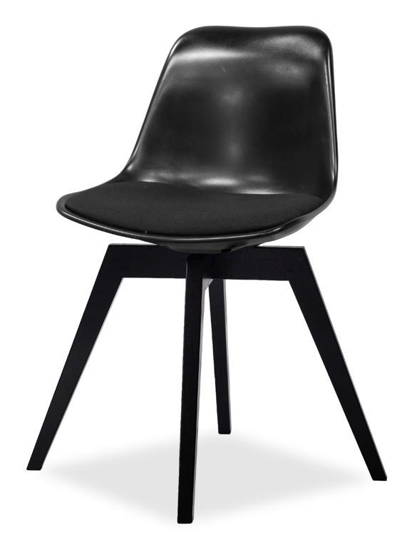 Jídelní židle GRACE 9360-124+BESS 9347-024 (černá,černá)
