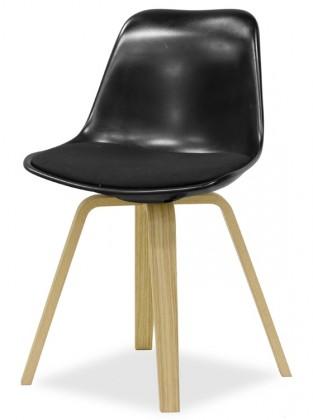 Jídelní židle GRACE 9360-124+ELLA 9348-054 (černá,dub)