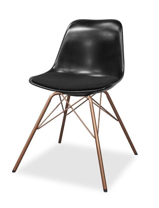 Jídelní židle GRACE 9360-124+PORGY 9346-889 (černá,měď)