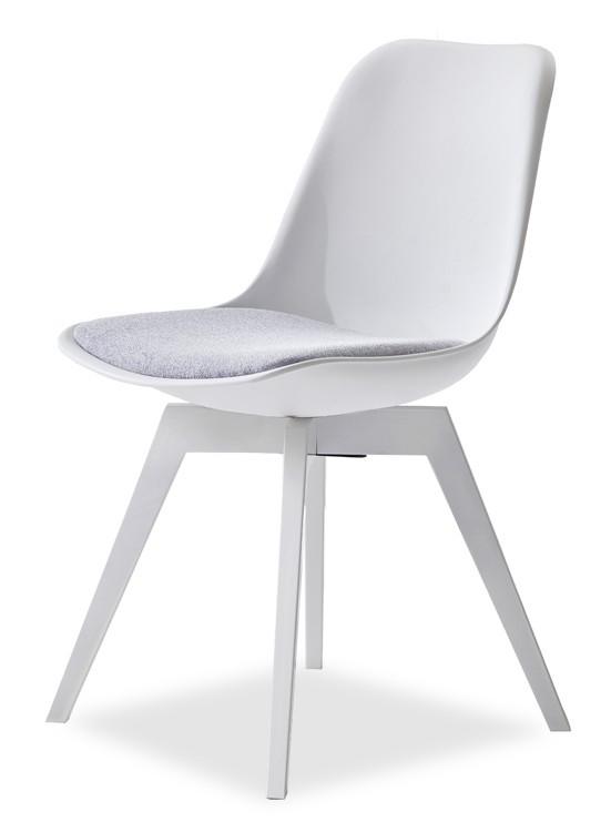 Jídelní židle GRACE 9360-413+BESS 9347-001 (bílá,šedá,bílá)