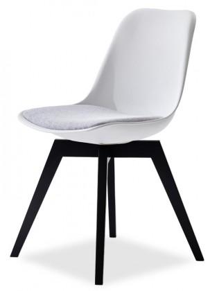 Jídelní židle GRACE 9360-413+BESS 9347-024 (bílá,šedá,černá)