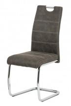 Jídelní židle Grama antracit/chrom