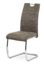 Jídelní židle Grama hnědá/chrom