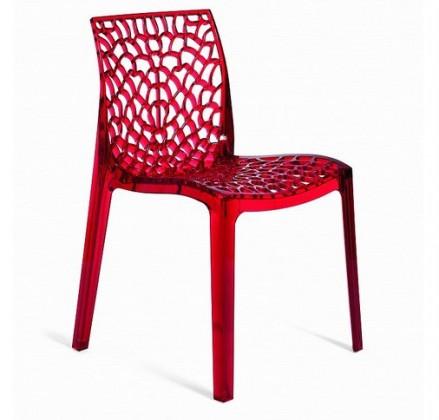 Jídelní židle Gruvyer(rosso transparente)
