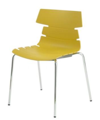 Jídelní židle Holly(kari, plast/chrom)