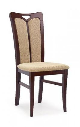 Jídelní židle Hubert 2  (béžová torent beige, ořech tmavý)