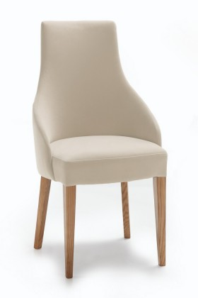Jídelní židle Isabela (dub/látka carabu šedobéžová)