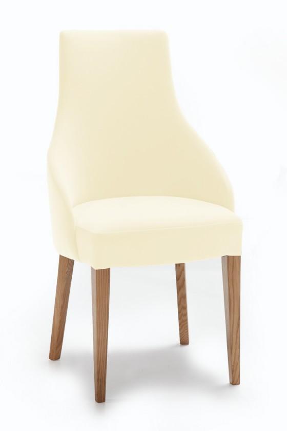 Jídelní židle Isabela (dub/látka carabu světle béžová)