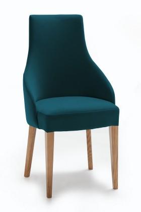 Jídelní židle Isabela (dub/látka navara petrolejová)