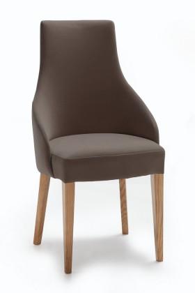 Jídelní židle Isabela (dub/látka navara šedá)