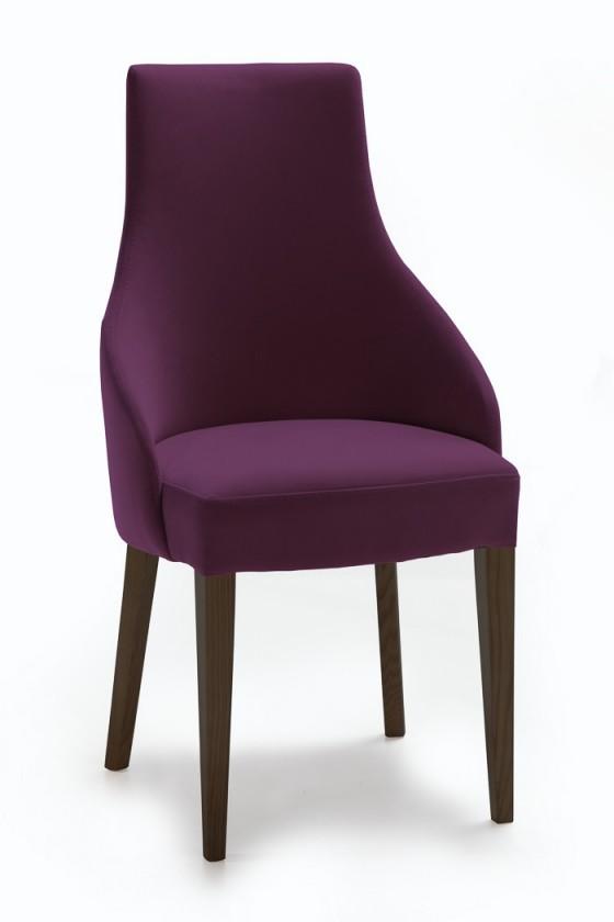 Jídelní židle Isabela (wenge/látka carabu fialová)