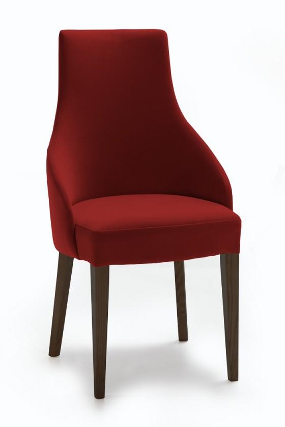 Jídelní židle Isabela (wenge/látka carabu karmínová)