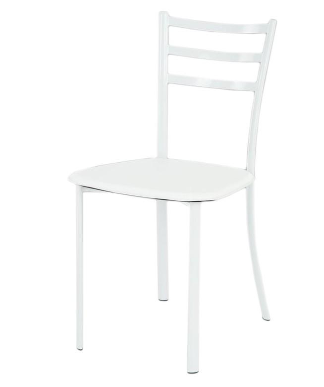 Jídelní židle Jackie(koženka bílá/bílý lesk)