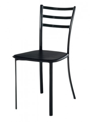 Jídelní židle Jackie(koženka černá/černý lesk)