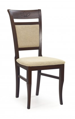 Jídelní židle Jakub (ořech tmavý/béžová casilda)