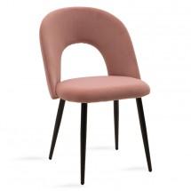 Jídelní židle Janet černá, růžová