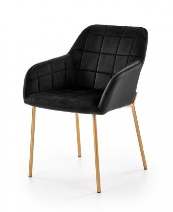 Jídelní židle Jídelní židle Belen (látka, kov, černá)
