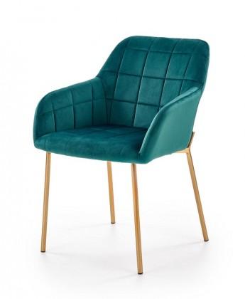 Jídelní židle Jídelní židle Belen (látka, kov, zelená)