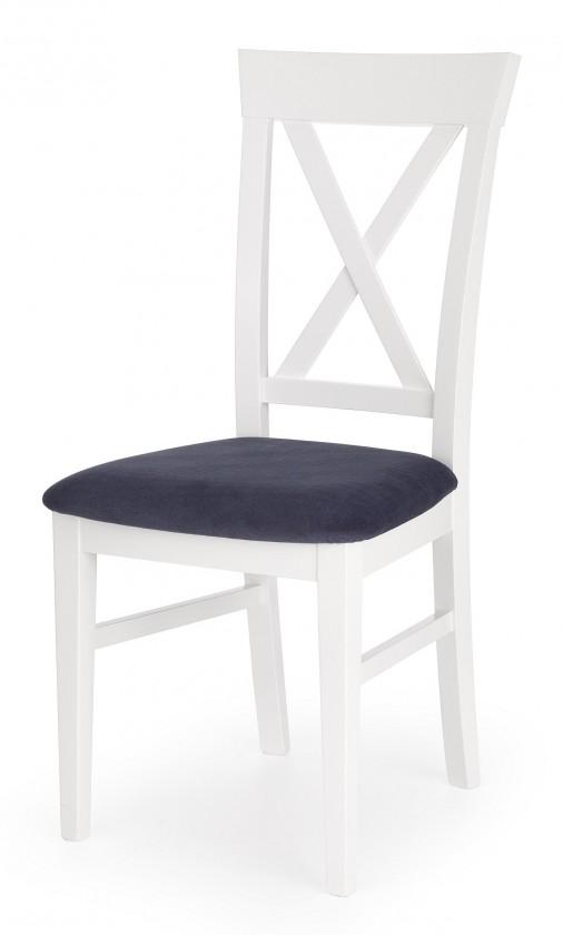 Jídelní židle Jídelní židle Bergamo (masivní buk bílá, látka)