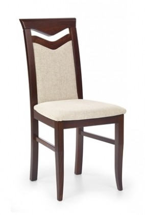 Jídelní židle Jídelní židle Citrone, buk (ořech tmavý/potah béžová)