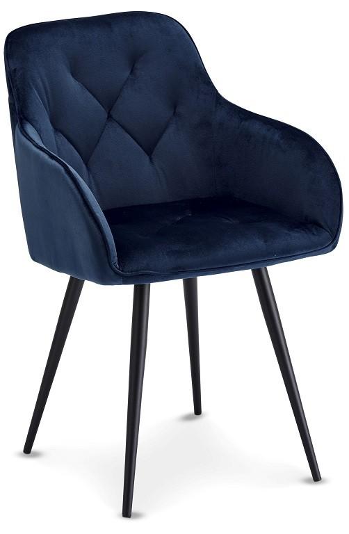Jídelní židle Jídelní židle Fergo modrá, černá